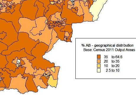 Social Grade A/B Geographical Distribution